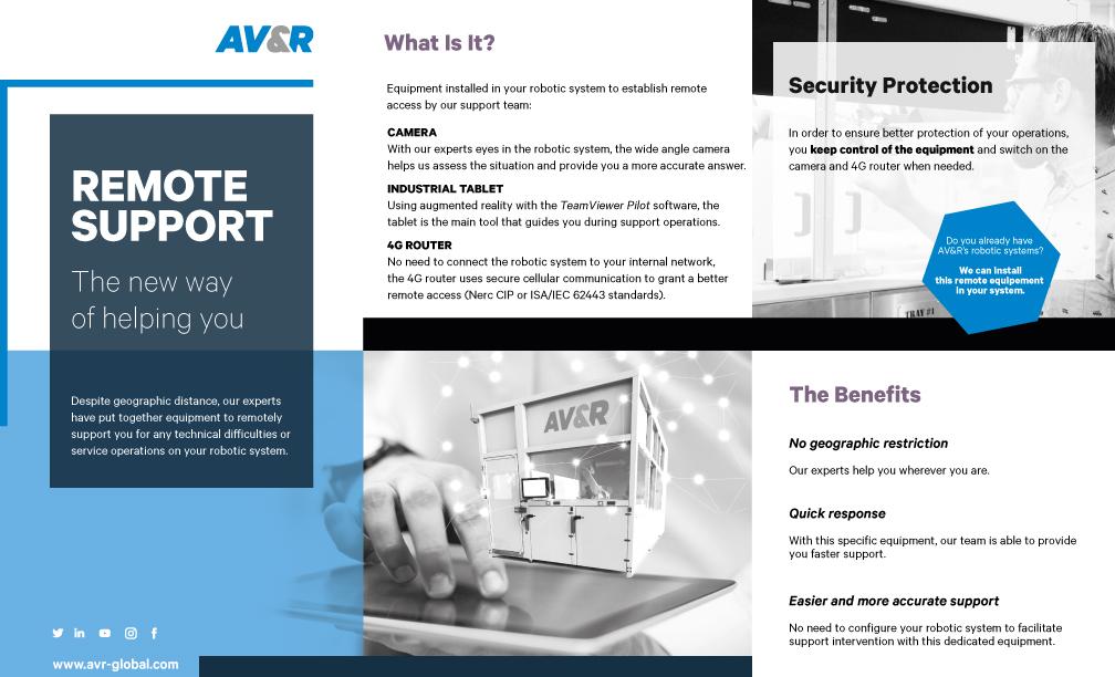 AV&R's Remote Support Brochure